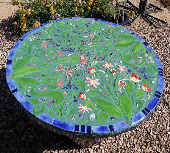 Flower garden mosaic garden ideas pinterest for Garden mosaics designs
